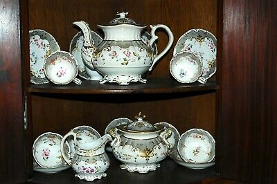 antique early 19th century tea set