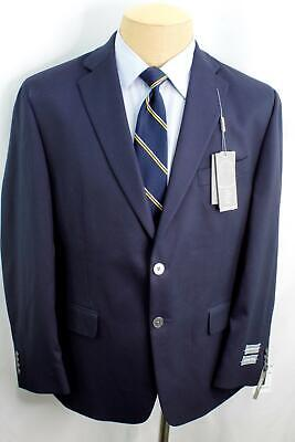 New 42S Michael Kors Classic Fit Navy Blue Silver Button Sport Coat Blazer MA0