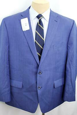 New 50R Michael Kors Classic Fit Blue Men's Double Vent 100% Wool Suit MA0