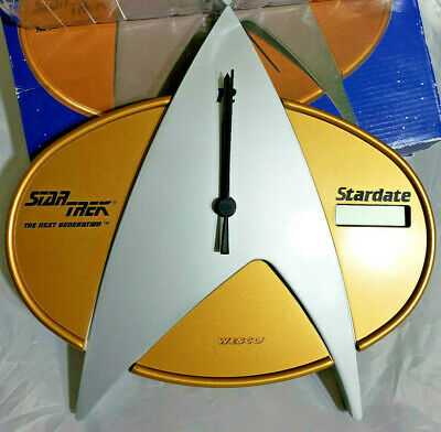 Rare! Star Trek Next Generation Stardate Wall Clock New In The Box