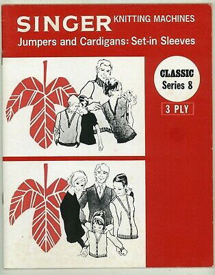SINGER MACHINE KNITTING PATTERN BOOK - JUMPERS & CARDIGANS IN 3ply