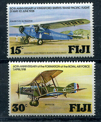 Fiji Island MINT Stamps Collection MNHOG British Colonies Aviation Flowers Queen