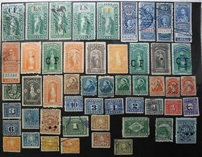Canada Used Revenues Collection, 48 Different, Law Stamps Etc.