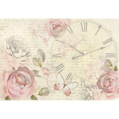 DFS349 Shabby Rose Stamperia Rice Paper 48x33cm Decoupage Mixed media