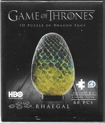 Game of Thrones The Dragon Rhaegal Egg 3D Jigsaw Puzzle 4d Cityscape NEW SEALED