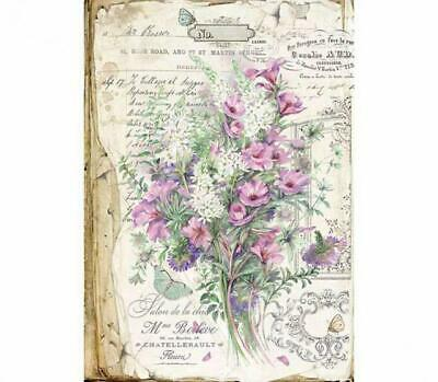 DFSA3034 Bouquet Stamperia Rice Paper A3 size 42x30cm Decoupage Mixed media