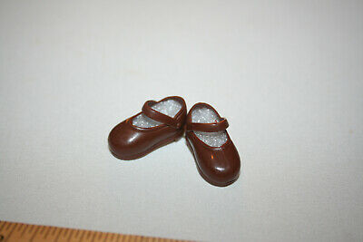 Brown Mary Jane Shoes For Flat Feet Dolls F/ Tammy Sindy Susi Licca Blythe