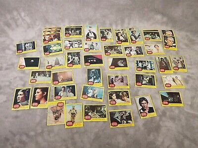 47-Star Wars Topps Trading Cards LOT Yellow Series Made 1977 Various BUNDLE