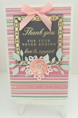 Handmade Thank you Card: Thank you your never ending love & support