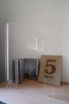 Sneeze Guard Acrylic Safety Shield Screens | 500mm x 600mm H + FREE Ship AUS