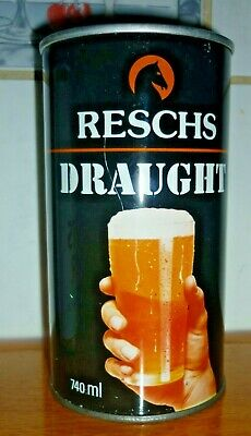 Collectable beer cans: Reschs Draught 740ml beer can