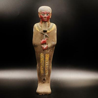 XXXL_RARE Antique Egyptian Faience Ushabti (Shabti) Statue Figure..ANCIENT EGYPT