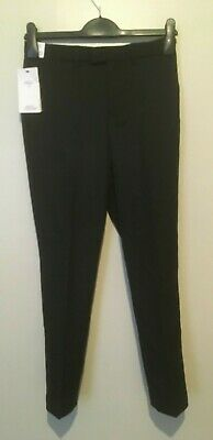 Marks & Spencer Boys Kids Formal Slim Suit Trousers Age 10-11 Years BNWT Black
