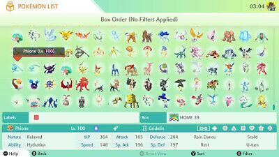All  900+ Pokemon Home 6IV Shiny GEN 1-7 ( 10 MINUTE Delivery)