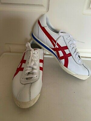 Onitsuka Tiger Corsair Shoes Sneakers White red blue Size US 9 Brand New Leather