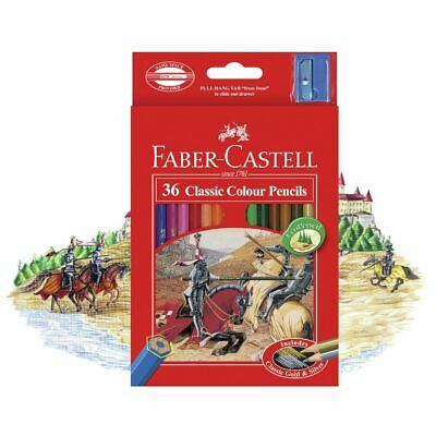 Faber-Castell 36 Classic Colour Pencils Includes Classic Gold  FREE SHIPPING
