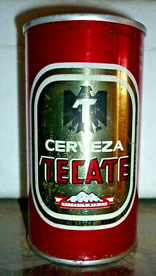 Collectable beer cans -  Tecate straight steel can (MEXICO)