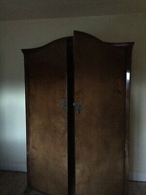 Huge Antique Wardrobe  Denby And Spinks  Oak And Walnut