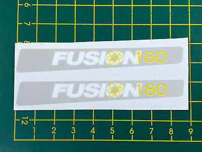 old school bmx decals stickers fusion crank chrome yellow 180