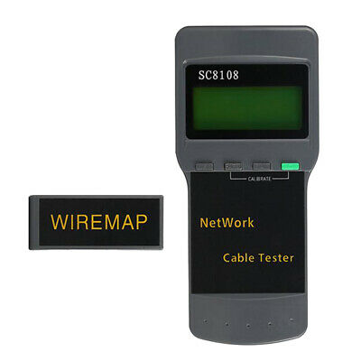 Multifunctional Portable SC8108 Network Wire Tester Length Cable Test Meter