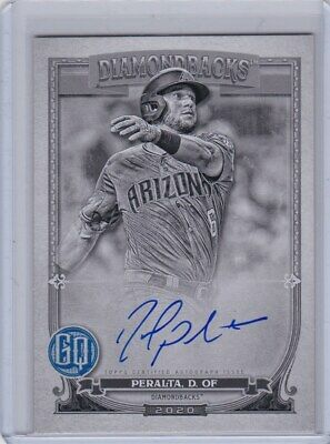2020 Topps Gypsy Queen David Peralta BLACK & WHITE Arizona Diamondbacks Auto /50