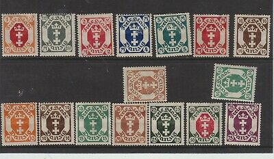 {Old 125} Germany Danzig Stamps From A Collection  Lot 1