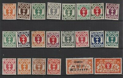 {Old 127} Germany Danzig Stamps From A Collection  Lot 3