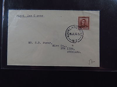 Cover FDC New Zealand Auckland West 26-juli-1938 to New Lynn