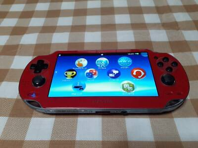 Ps Vita Body Pch-1000 Red System 3.73 Metal Gear Solid Hd Edition Moving Works
