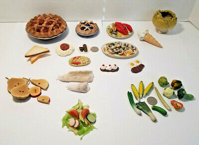 Miniature Dollhouse Food  Vegetables-Eggs-Meat-Lobster-Oysters-Ham and more