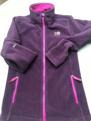 Karrimor girls purple fleece age 13 zip up with two zip pockets
