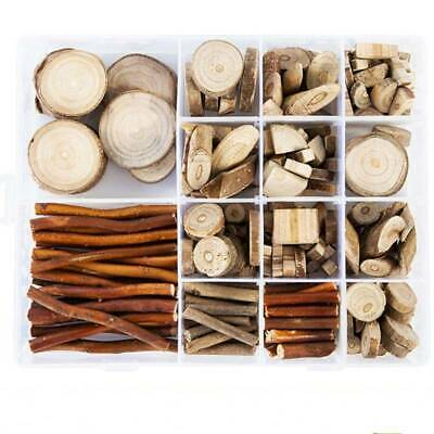 Boxed Wood Slices Wood DIY Kits For Arts And Crafts Smooth Wooden Circles Sticks