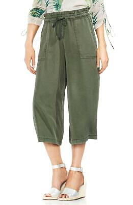NEW Vince Camuto Womens Green Lyocell Wide Leg Pull On Cropped Pants SIZE LARGE