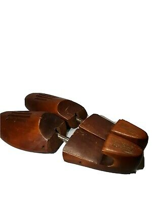 Vintage FRENCH SHRINER Wood Shoe Stretcher Keepers Wooden Vented Forms Sz Medium