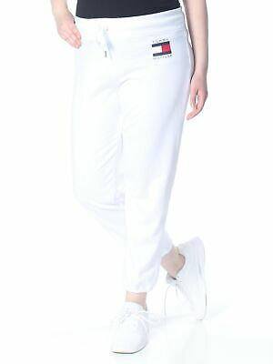 TOMMY HILFIGER Womens New 1537 White Logo Print Lounge Pants XXL B+B
