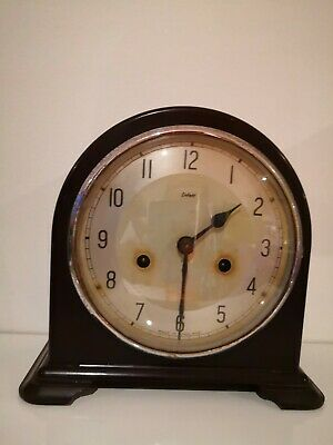 Enfield Carriage/Mantle Clock-Repairs or spares.