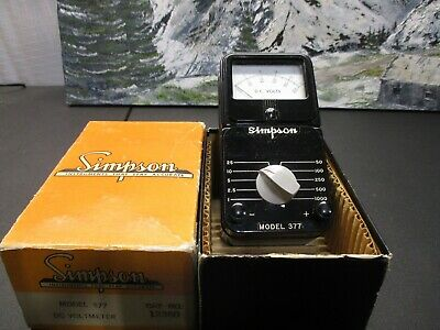 Simpson model 377 DC voltmeter 1000V