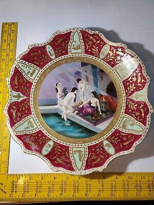 Stunning Antique Royal Vienna Porcelain Hand Painted Plate Signed Schmitt!