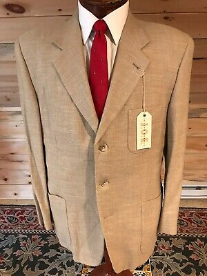"""Joe"" Joseph Abboud 3 Button Tan Blazer Sport Coat Wool Linen Blend"