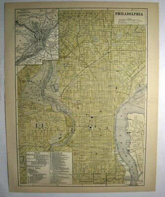 Johnson's  Map of Philadelphia  (Pennsylvania)-  Original (1897)