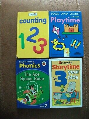 Four childrens hardback early learning books. 3 x Ladybird 1 other.