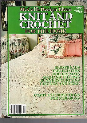 1981 McCALL'S DESIGN IDEAS KNIT AND CROCHET FOR THE HOME MAGAZINE-BEDSPREADS