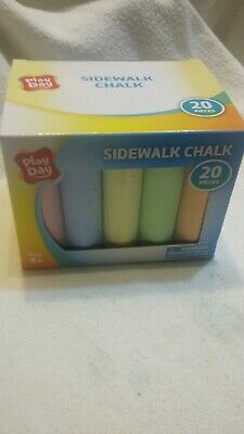 Sidewalk Chalk 20 Pieces, 6 colors Factory Sealed by Play Day - Brand New