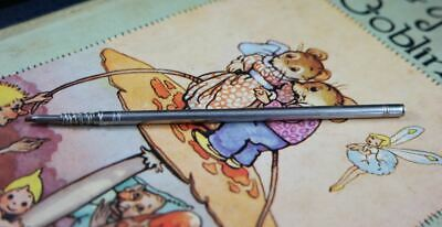 Antique sterling silver plated slim long propelling pencil c1900's