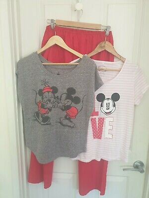 MICKEY MOUSE, Size M, Summer PJ Set, Incl 2 Tops
