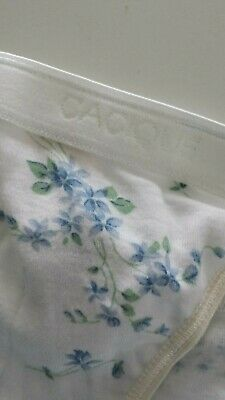 Vintage Cacique Panties Underwear Womens Small 5 NWT White Floral