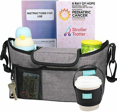 Universal Stroller Organizer with Expandable Diaper Bag