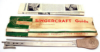 Vintage Singer Singercraft Guide 121079 In Flattened Factory Box With Papers