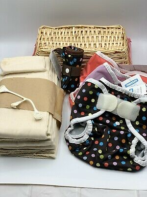 Thirsties Brand Cloth Diaper Lot NEW 6 Months + With Extras