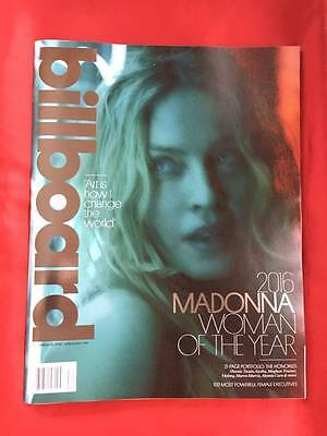 Madonna December 10, 2016 Woman of the Year Billboard Oversized Music Magazine